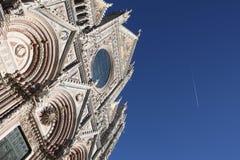 sienne de façade de cathédrale Image stock