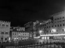 Sienne, Piazza del Campo Images libres de droits