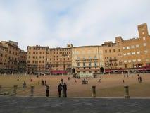 Sienne, Piazza del Campo Photographie stock libre de droits