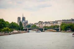Sienne river, Paris Royalty Free Stock Photos
