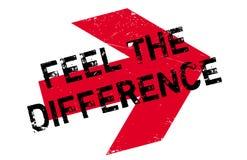 Sienta el sello de goma de la diferencia Imágenes de archivo libres de regalías
