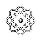 Sientific model of the atom, sketch Stock Image