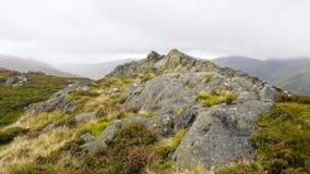 Sierżanta Crag szczyt, Jeziorny okręg obraz royalty free