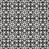 Sier Abstract bloementegels naadloos patroon Geometrische bloemachtergrond Royalty-vrije Stock Afbeeldingen
