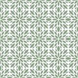 Sier Abstract bloementegels naadloos vectorpatroon Geometrische bloemachtergrond Royalty-vrije Stock Foto