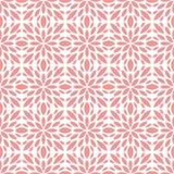 Sier Abstract bloementegels naadloos vectorpatroon Geometrische bloemachtergrond Stock Foto