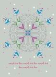 Sier Bloemen Royalty-vrije Stock Afbeeldingen
