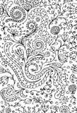Sier bloemen naadloos patroon voor uw ontwerp Royalty-vrije Stock Fotografie