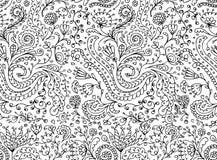 Sier bloemen naadloos patroon voor uw ontwerp Stock Fotografie