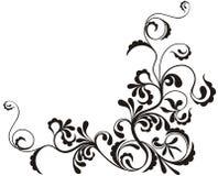Sier bloemenachtergrond Royalty-vrije Illustratie
