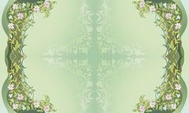 Sier BloemenFrame II Stock Afbeeldingen