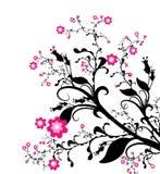 Sier bloemenontwerp royalty-vrije illustratie