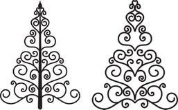 Sier bomen Stock Afbeelding