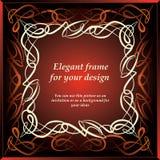 Sier decoratief frame Stock Fotografie