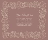 Sier frame met rozen Stock Foto