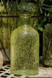 Sier gebarsten fles royalty-vrije stock fotografie
