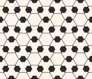 Sier geometrisch naadloos patroon Gevoelige hexagonale textuur Stock Foto