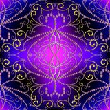 Sier gestippeld 3d Damast vector naadloos patroon vector illustratie
