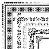 De elegante inzameling van de hoekgrens van kaders Stock Afbeeldingen