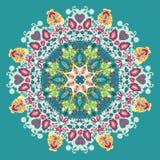 Sier kantpatroon. bloemen en bladeren Royalty-vrije Stock Afbeelding