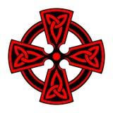 Sier Keltisch Kruis Stock Foto
