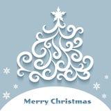 Sier Kerstmisboom Royalty-vrije Stock Afbeelding