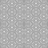 Sier lineair patroon Gedetailleerde vectorillustratie Naadloze zwart-witte textuur Het element van het Mandalaontwerp Stock Foto