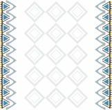 Sier met de hand gemaakt oostelijk ontwerp voor kleren Stock Afbeelding