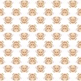 Sier naadloos damascpatroon voor het breien en borduurwerk Vector illustratie Stock Foto