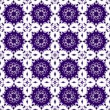 Sier Oosters Blauw Purper Violet Floral Beautiful Royal Vintage-de Textuurbehang van het de Lente Abstract Naadloos Patroon Stock Foto