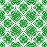 Sier Oosters Mooi Groen Koninklijk Bloemen Uitstekend de Textuurbehang van het de Lente Abstract Naadloos Patroon vector illustratie