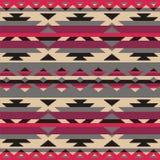 Sier patroon voor het breien en borduurwerk Indianen, Navajo, stammen, etnische stof Royalty-vrije Stock Fotografie