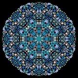 Sier rond kantpatroon, cirkelachtergrond Stock Afbeelding