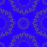 Sier rond organisch naadloos patroon, cirkelachtergrond met vele details Royalty-vrije Stock Foto
