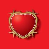 Sier rood hart Royalty-vrije Stock Afbeeldingen