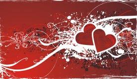 Sier valentijnskaartachtergrond Stock Afbeelding
