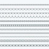 Sier van de de patronenpagina van het grenskader de decoratievector stock illustratie