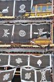 Sier vlaggen in Songzanlin Royalty-vrije Stock Afbeeldingen