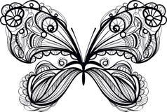 Sier vlinder Royalty-vrije Stock Afbeeldingen