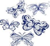 Sier vlinders Stock Afbeelding