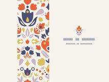 Sier volks naadloos tulpen horizontaal kader stock illustratie