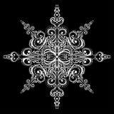 Sier witte sneeuwvlok Stock Foto's