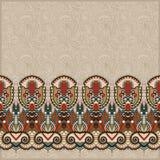Sierachtergrond met bloemlint, streep Stock Afbeeldingen