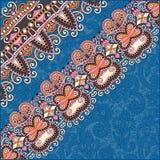 Sierachtergrond met bloemlint, streep Royalty-vrije Stock Foto