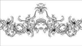Siergrens, kader Barok patroon Naadloze vector Royalty-vrije Stock Afbeelding
