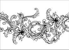 Siergrens, kader Barok patroon Naadloze vector Stock Fotografie