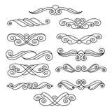 Sierontwerpelementen, reeks Zwart Wit Vector Royalty-vrije Stock Afbeeldingen