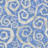 Sierpatroon van abstracte spiralen stock illustratie