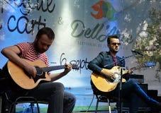 23 2015 Sierpień: indie zespołu odmieniania skór sztuki Cismigiu Fotografia Royalty Free