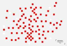17 Sierpień Indonezja dnia niepodległości tło Zaznacza wektorową ilustrację Zdjęcia Royalty Free